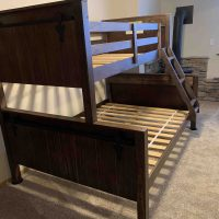 New Rustic Twin Over Full Bunk Bed